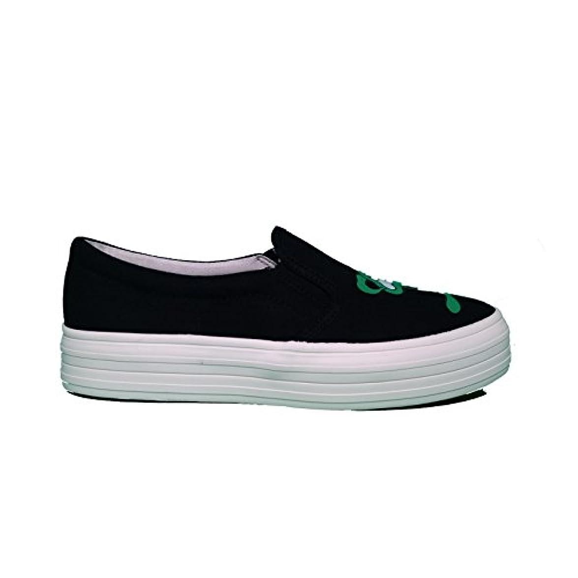 Sneaker Slip-on Swear Yosh Black Canvas Green - Size 38