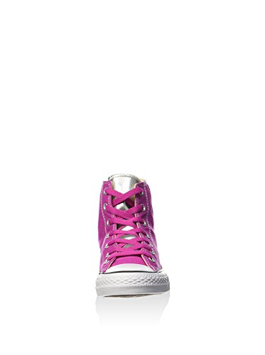 Converse Zapatillas abotinadas All Star Hi Canvas/Metal Silve Fucsia EU 37.5 (US 7)