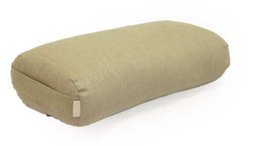 Natural Fitness Rectangular Natural Hemp Yoga Bolster