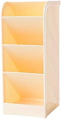 Multifunktionaler Desktop-Organizer, DIY Desk Tidy Storage Cabinet mit 4 Gittern, Kann horizontal oder vertikal platziert werden, Platzieren Sie Stifte und kleine Gegenstände (8 * 9 * 20 cm, gelb)