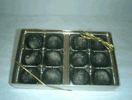 Champagne Dark Chocolate Flavoured Truffles Gift Box (12 ...