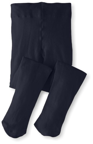 Jefferies Socks Big Girls'  Pima Cotton Tights, Navy, 6-8 Years ()