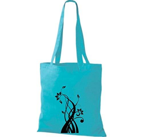 Algodón Blue Sky Tela Mujer Bolso Shirtinstyle De Para HwZqBB4F