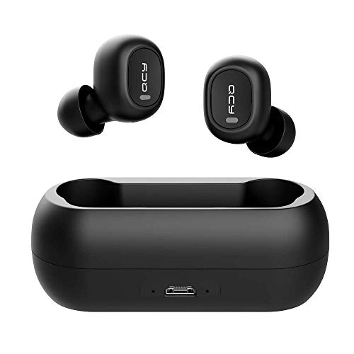 Wireless Earbuds, Wireless Bluetooth 5.0 3D Stereo Sound True Wireless Headphones with Built-in Microphone, Instant Pairing Earphones with Portable Charging Case for iPhone Android