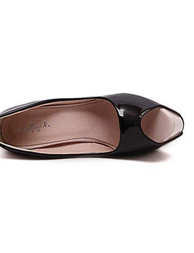 Uk5 5 5 noir Chaussures talons White Talons us7 Ggx Blanc Femme Cn38 chaussures talon Aiguille À décontracté Eu38 polyuréthane ACaxqTpf