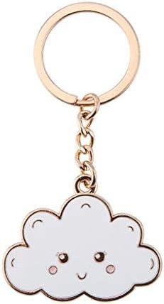 Sass and Belle Porte-cl/és en /émail Happy Cloud