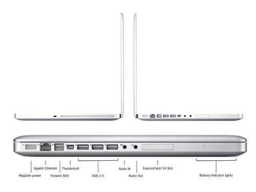 Apple MacBook Pro 17 inches Laptop Intel QuadCore i7 2.2GHz (MC725LL/A), 16GB Memory, 1TB SSHD (Solid State Hybrid) Drive / 1.5GB Video Memory / High-Resolution Display (Renewed)