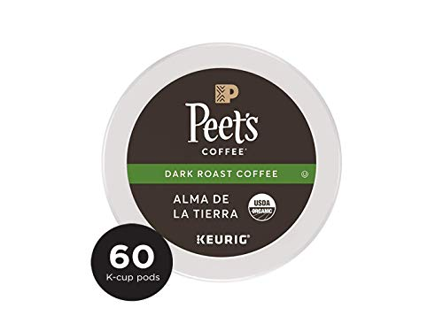 Peet's Coffee Alma De La Tierra Dark Roast Coffee K-Cup Coffee Pods (60 Count) USDA Organic