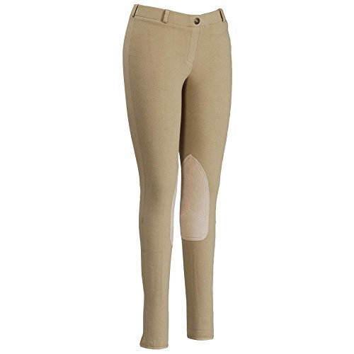 Ladies Cotton Knee Patch Breeches - 6