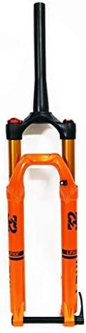 """SN 27.5 / 29"""" サスペンションフォーク、 MTB マウンテンバイク アルミニウム合金 コニカルチューブ コーンディスク ブレーキダンピング 調整 旅行 100mm ブラック (Color : Orange, Size : 27.5inch)"""