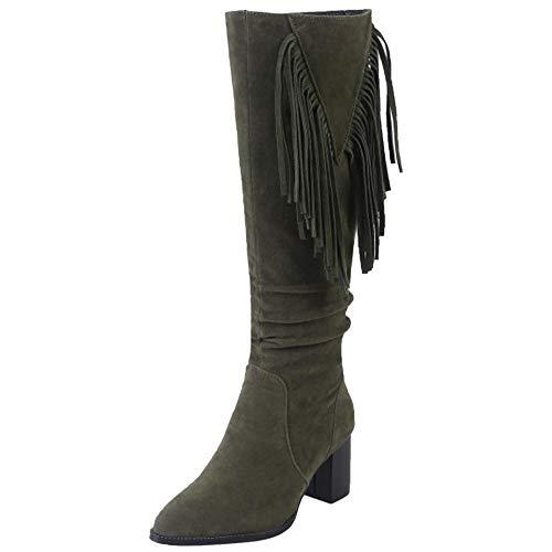 Vulusvalas Vulusvalas Bottes Bottes Vert Mode Femme aqa5wrz6n