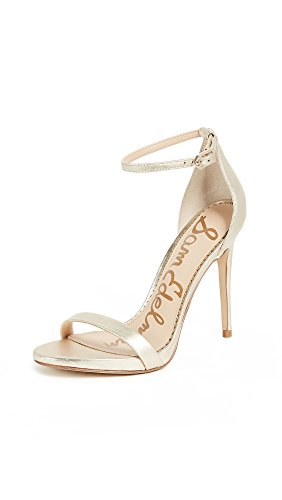 Sam Edelman Women's Ariella Heeled Sandal, Jute Metallic Leather, 8 M US -