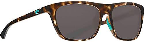 Costa Cheeca Two Tone Resin Frame Grey Lens Unisex Sunglasses ()