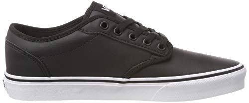 white Black Atwood Synthetic Tumble Basse Leather Uomo Da Nero U0m classic Vans Ginnastica Scarpe a1Pq1w7