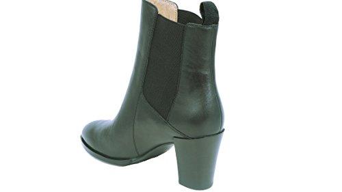 kleine aber feine Stiefel Größe 35 für Damen - Schwarzer Kurzschaft Stiefel in Chelsea Boots Optik - Hochwertige Qualität in Untergröße