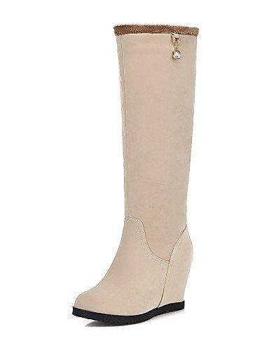 Noir-us6.5-7   eu37   uk4.5-5   cn37 XZZ  Chaussures Femme - Extérieure   Bureau & Travail   Décontracté - Noir   Jaune   Beige - Plateforme - Confort   Bottes à la Mode - Bottes -