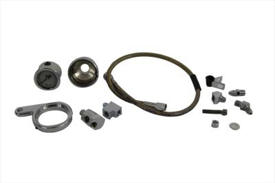 V-Twin 40-9966 Rocker Box Oil Pressure Gauge Kit