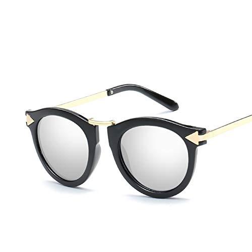 Gnzoe Sunglasses Sunglasses for Men Women Round Arrow Silver