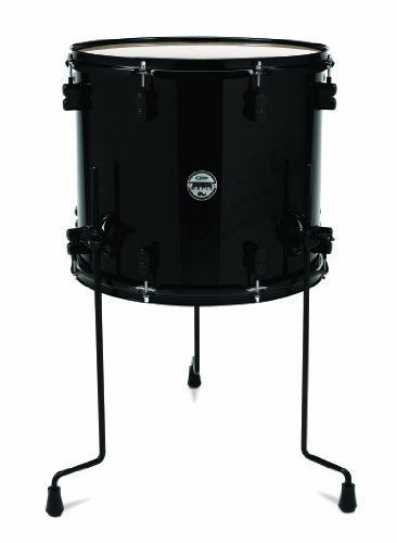 Pacific Drums PDCM1416TTPB 16-Inch Drum Set Tom Tom - Pearlescent Black - Black Pacific Tom Drum