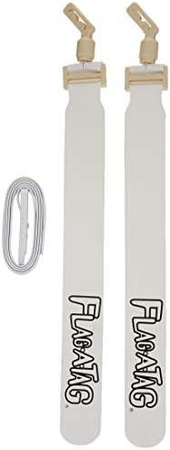 (110cm , White) - Flag-a-Tag Sonic Boom Flag Belt, Set of 12