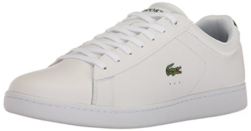 Lacoste Men's Carnaby Evo S216 2 Casual Shoe Fashion Sneaker, White/Green, 13 M US