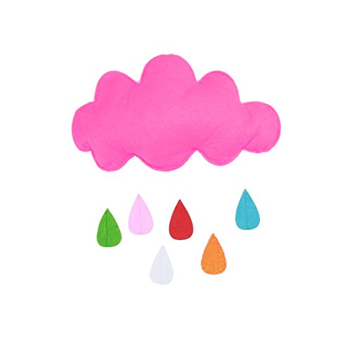 Nordic Sticker Wall - Nordic Style Cloud Raindrops Garland Baby Room Wall Decorations Colorful Clouds Photography Props - Coffee Disney Sayings Family Kitchen Jungle Decals Cherry Dollars Cloc