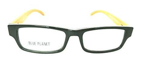 BLUE PLANET Reading Glasses Eco Friendly Men Women Sustainable Bamboo Ladies Designer Eyeglasses Olive Green - Glasses Blue Planet