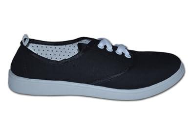 Red Tag - Zapatillas para mujer, color negro, talla 40