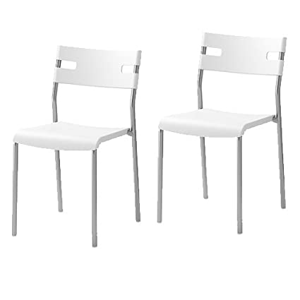Incroyable 2 Ikea Laver Chairs Stackable White Modern