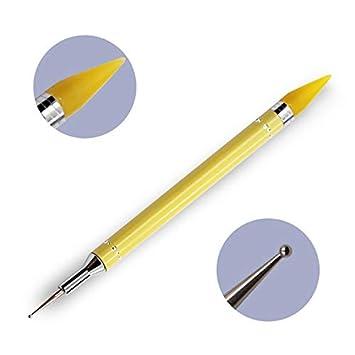 Bolí grafo de cera, doble punta, para decoració n de uñ as, pintura, puntos, bolí grafos, pinceles, herramientas para decoración de uñas bolígrafos KAIROSF