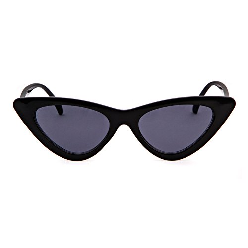 de mujeres de Kurt Gafas retro vintage Gafas de Gris sol Marco de de sol gafas niñas gato Negro Cobain estilo ojo protección para Lente ADEWU 4UPC5wqw