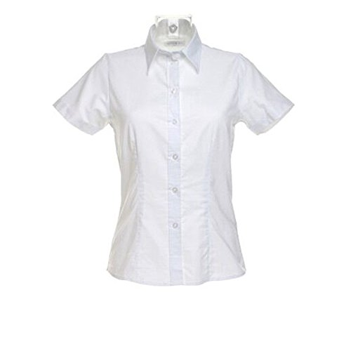 Kustom Kit Womens Workwear Oxford Short Sleeve Blouse blanco