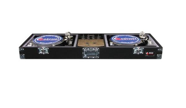 Odyssey cdj10 de moqueta DJ ataúd con empotrable cerraduras para a ...