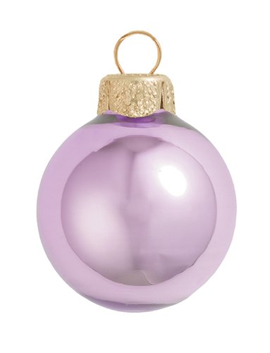 Soft Lavender Ball Ornament - 8ct Pearl Soft Lavender Purple Glass Ball Christmas Ornaments 3.25