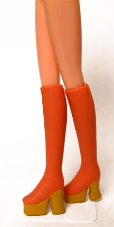 1/6 thick-soled boots and ultra-tight (red tea + sole ocher) DW-63017 (japan import)