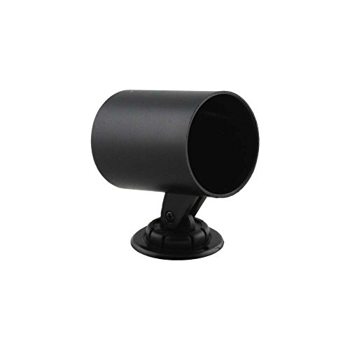 Cup Mounting Gauge - GlowShift Universal Black Single Gauge Swivel Dashboard Pod - Fits Any Make/Model - Swivels 360 Degrees - ABS Plastic - Mounts (1) 2-1/16