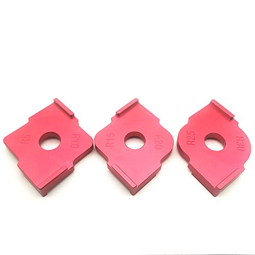 Set of 3 Radius Jig Router Templates Aluminium Alloy Radius Corners R5 R10 R15 R20 R25 R30 ()