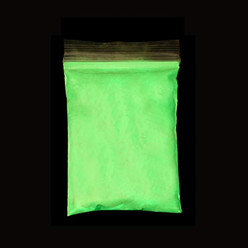 12 Colors Green Phosphor Paint Photoluminescent Powder Bright Phosphorous Halloween Nail Art Glitter Holly Fluorescent Pigment Apple Green -
