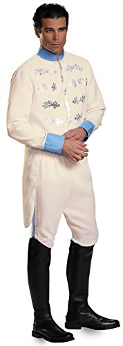 Prince Of Cinderella Costume (Prince Charming Movie Adult Deluxe Uniform Costume XL)