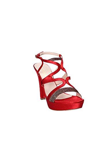 Donna Sandalo Shoes Rosso Tacco Grace 4020 wHYnBIA