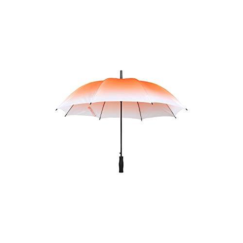 Gradient Transparent Long-handle Rainy Umbrella Ultra Light Women And Kids Clear Rain Umbrella Semi-automatic Female Umbrellas,Orange ()