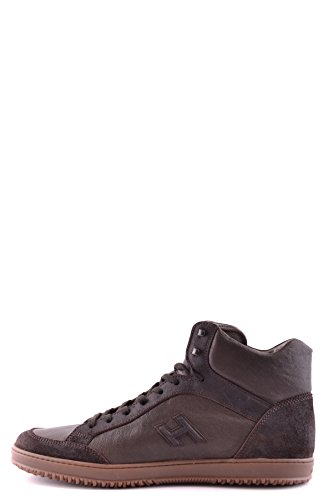 Hogan Hi Top Sneakers Uomo MCBI148017O Pelle Marrone
