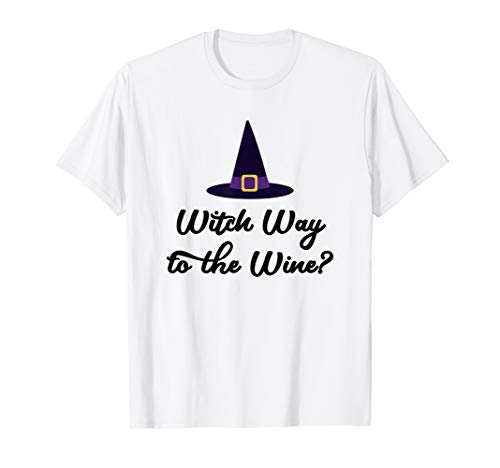 Witch Way to the Wine Shirt, Wine Puns, Halloween Lover -