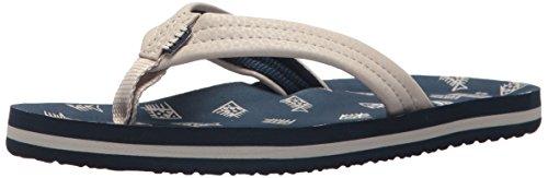 (Reef Boys' AHI Sandal, Navy, 5-6 Medium US Toddler)