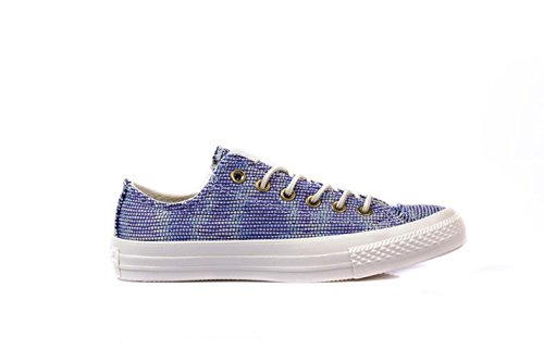 Converse Womens Chuck Taylor All Star Basket Weave Monte Blue/Multi Sneaker - 8.5