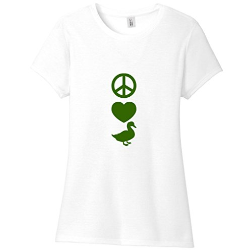 Peace Love Ducks Women'S Fitted T-Shirt Perfect For A Duck Farmer! Animal Lover Ladies Shirt - Farmer Fitted T-shirt