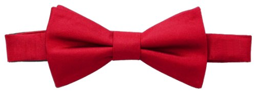 Tommy Hilfiger Mens Core - Tommy Hilfiger Men's Core Solid Bow Tie, Red, One Size