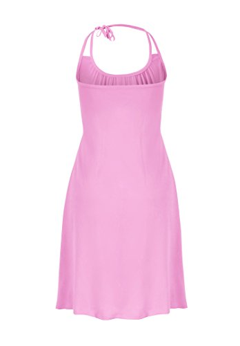 Women's Cover Howriis Halter UPS Pink Beach Dresses wpqqCEd