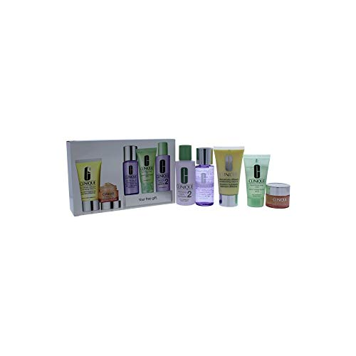 Daily Essentials Set - Dry Combination Skin by Clinique for Unisex - 5 Pc Set ()