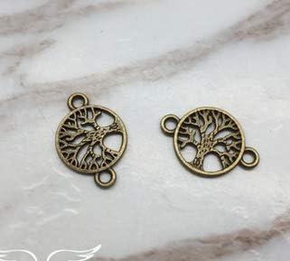 1000PC Tibetan Silver Tree Of Life Heart Charm Pendant For DIY Earrings//Bracelet